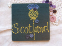 Adornment - Scottish Coaster - Scotland Thistle